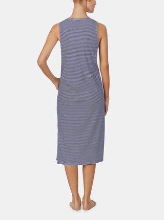 Modrá pruhovaná nočná košeľa Lauren Ralph Lauren