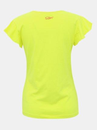 Žluté dámské tričko s potiskem SAM 73 Lepsa
