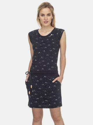 Tmavomodré vzorované šaty Ragwear Penelope