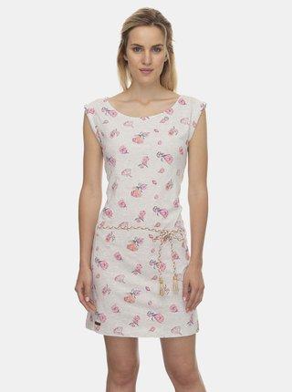 Svetlošedé kvetované šaty Ragwear Tamy Flowers