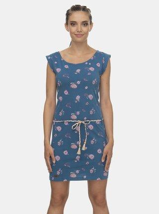 Modré květované šaty Ragwear Tamy Flowers