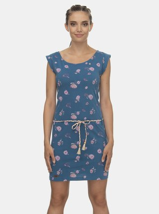 Modré kvetované šaty Ragwear Tamy Flowers