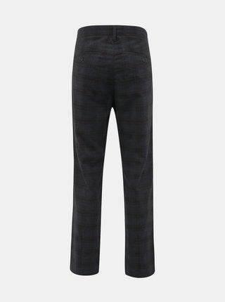 Tmavošedé kockované chino nohavice ONLY & SONS Mark