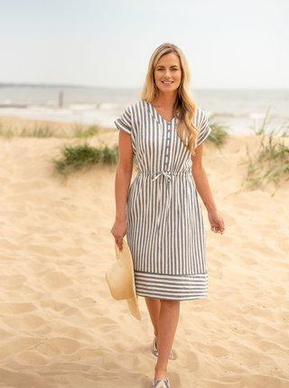 Bielo-modré pruhované šaty Brakeburn