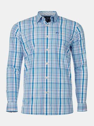 Modrá kockovaná košeľa Raging Bull