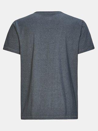 Tmavě šedé pánské pruhované tričko killtec Hadero
