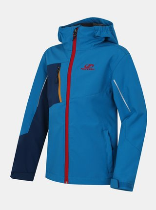 Modrá chlapčenská softshellová vodeodolná bunda Hannah Tener