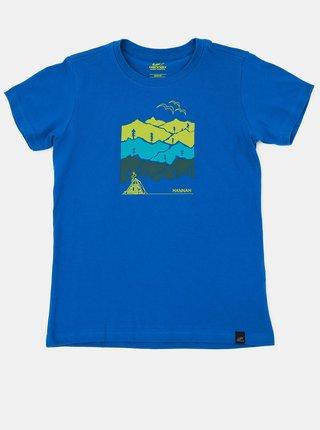 Modré detské tričko s potlačou Hannah Darley