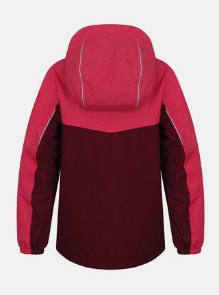 Vínová dievčenská vodeodolná bunda Hannah Brons