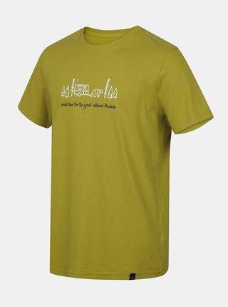 Zelené pánske tričko s potlačou Hannah Matar