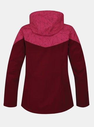 Vínová dámská softshellová voděodolná bunda Hannah Frida