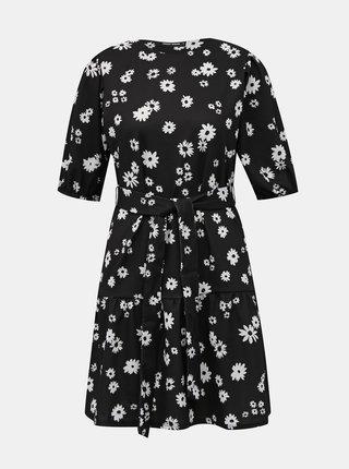 Černé květované šaty TALLY WEiJL