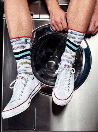 Biele pánske ponožky XPOOOS
