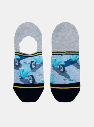 Šedo-modré pánske nízke ponožky XPOOOS