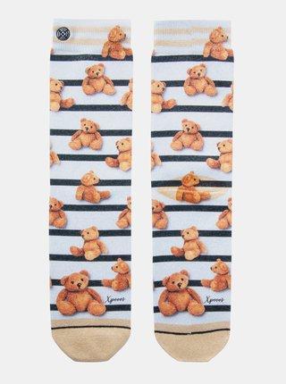 Hnědo-krémové dámské ponožky XPOOOS