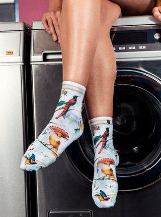 Modro-bílé dámské ponožky XPOOOS