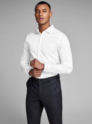 Biela slim fit košeľa Jack & Jones Parma