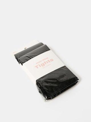 Dva páry čiernych pančochových ponožiek TALLY WEiJL