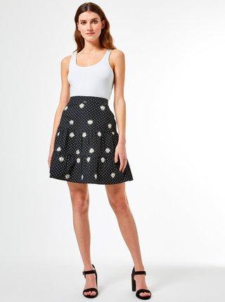 Černá puntíkovaná sukně Dorothy Perkins