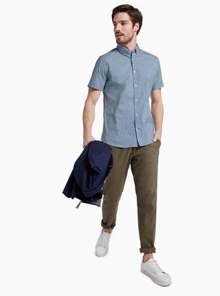 Modrá pánská košile s drobným vzorem Tom Tailor