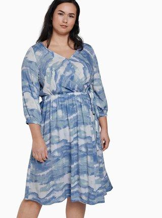 Světle modré vzorované šaty My True Me Tom Tailor