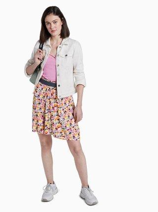Ružová kvetovaná sukňa Tom Tailor Denim