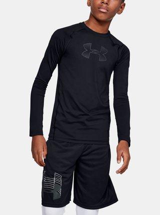 Černé klučičí tričko HeatGear Under Armour
