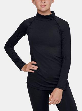 Čierné holčičí tričko ColdGear Under Armour