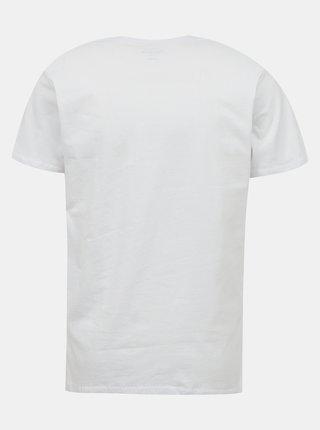 Biele pánske tričko s potlačou Pepe Jeans Flag