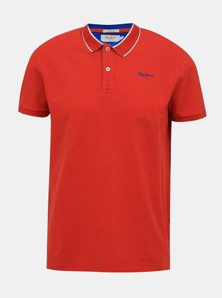 Červená pánska polokošeľa Pepe Jeans Lou
