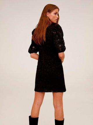 Černé krajkové šaty Mango Katri