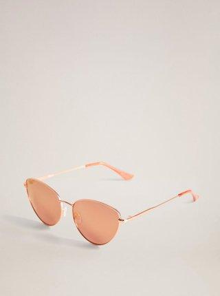 Sluneční brýle v růžovozlaté barvě Mango Dallas