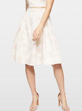 Krémová vzorovaná sukně Miss Selfridge
