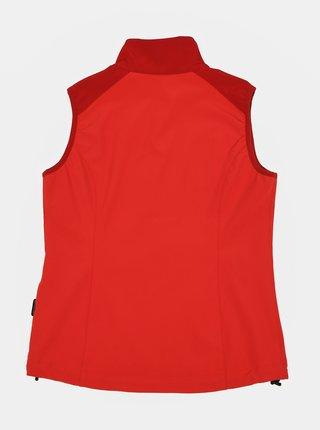 Červená detská softshellová vodeodolná vesta Hannah Loras