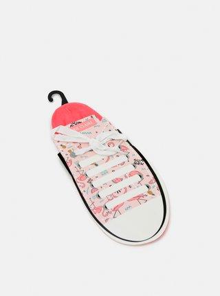 Růžové nízké ponožky Marie Claire