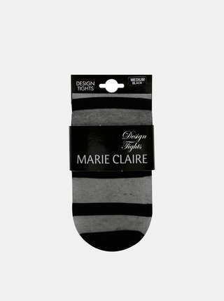 Čierne pruhované pančuchové nohavice Marie Claire