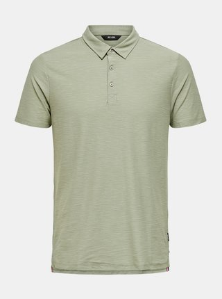 Světle zelené polo tričko ONLY & SONS Ilkas