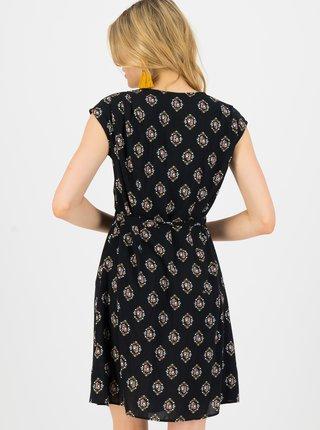 Černé vzorované šaty Blutsgeschwister