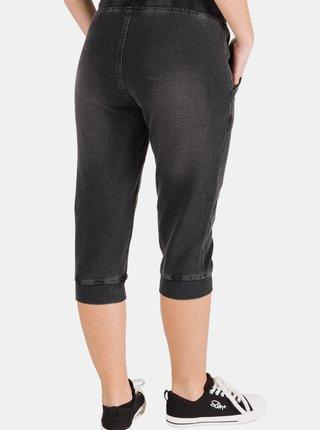 Černé dámské 3/4 kalhoty SAM 73