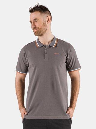 Šedé pánské polo tričko SAM 73