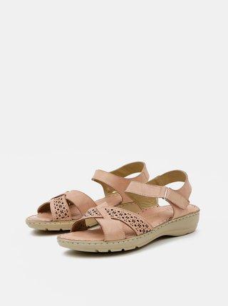 Staroružové dámske kožené sandále WILD