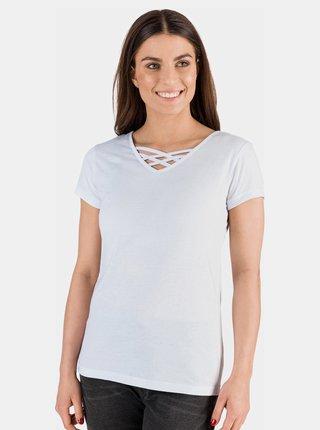 Bílé dámské basic tričko SAM 73