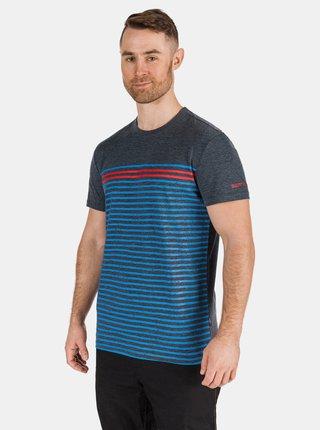 Tmavě modré pánské pruhované tričko SAM 73