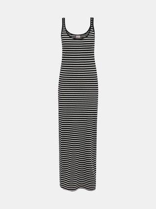 Bielo-čierne pruhované basic maxišaty VERO MODA
