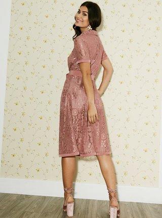 Starorůžové krajkové šaty Paper Dolls