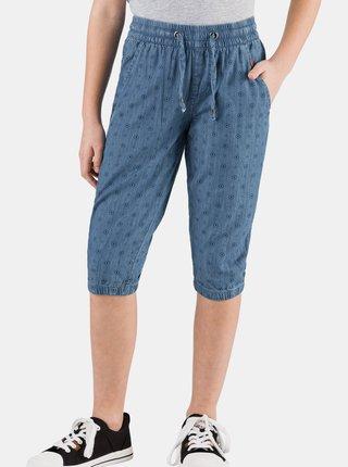 Modré dievčenské vzorované 3/4 nohavice SAM 73