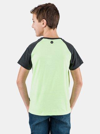 Neonovo zelené chlapčenské tričko s potlačou SAM 73