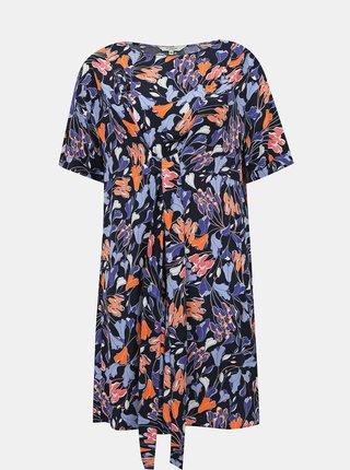 Modré kvetované šaty My True Me Tom Tailor