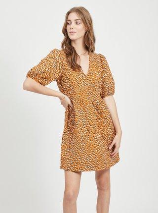 Hnedé vzorované šaty VILA Lorin