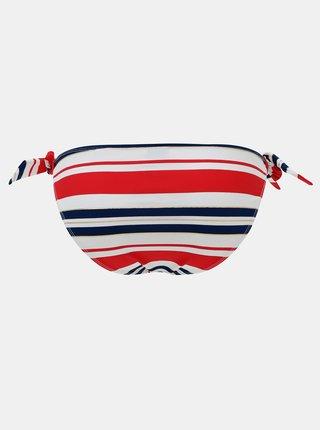 Modro-červený dámský pruhovaný spodní díl plavek ZOOT Bernice
